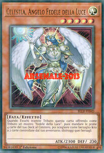 CELESTIA ANGELO FEDELE DELLA LUCE LODT-IT024 ULTRA RARA ITALIANO YUGIOH