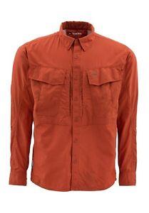 Simms GUIDE Long Sleeve Shirt ~ Terracotta NEW ~ Closeout Size XL