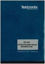 Original Tektronix Sinewave Generator Sg503 Operators Amp Service Manual
