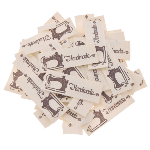 50Pcs Handmade Label Tag Sew on Patches Cartoon Embroidered Clothing Craft DIY
