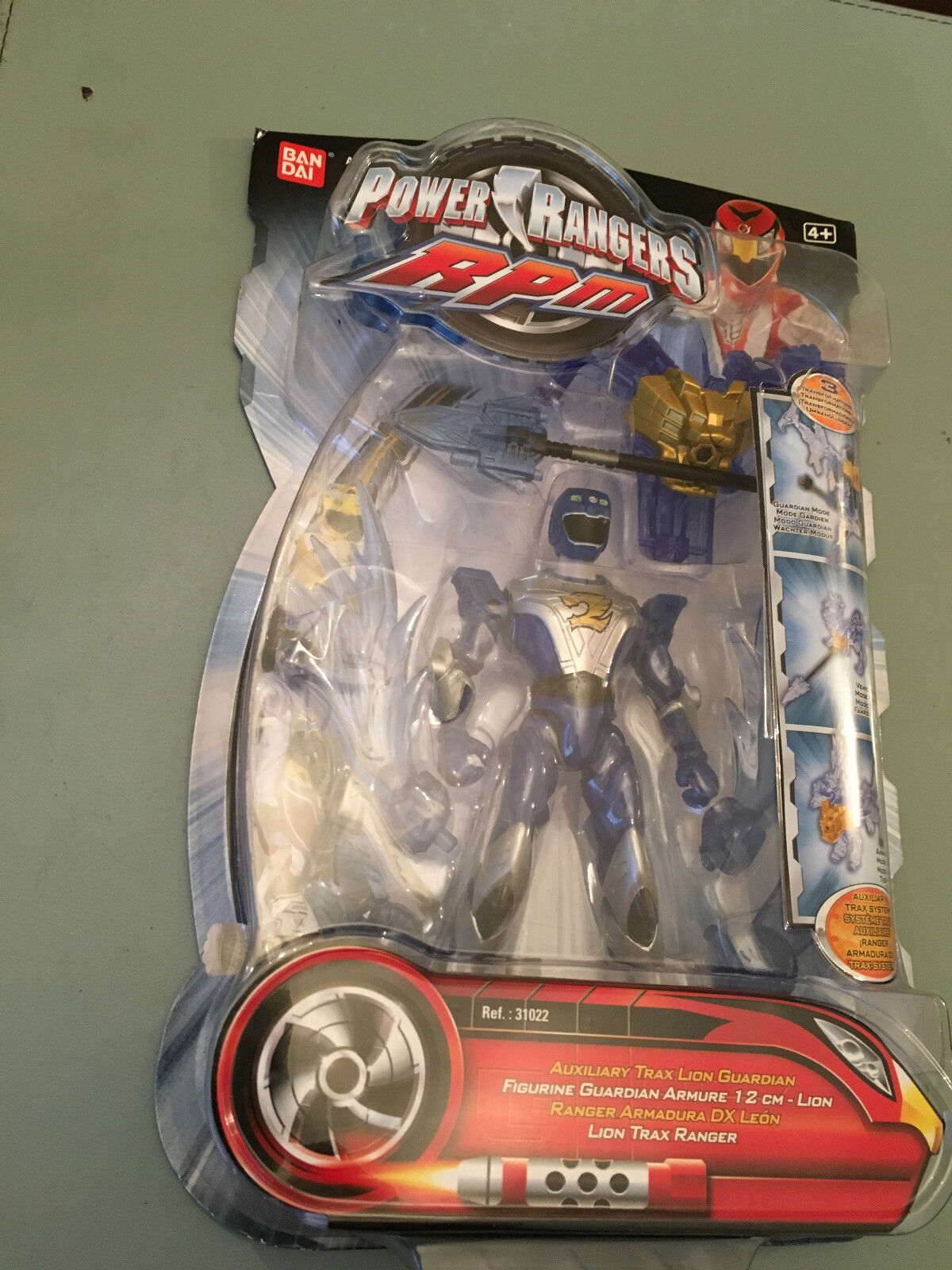 Power rangers rpm aux trax löwe guardian mit traz zord system in blister