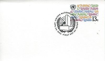 1982 United Nations New York Reguläre Ausgabe Postal Card No Cachet Unaddressed
