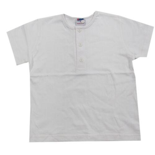 Kanz T-shirt a maniche corte maglietta cotone BIANCO BAMBINO RAGAZZO TG 74,80,86,92,98,116,128
