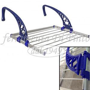 Stendibiancheria da balcone cm 60 con 2 bracci regolabili scorrevoli alluminio ebay - Stendibiancheria da finestra ...