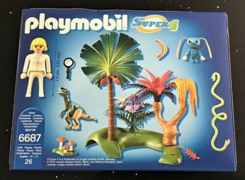PLAYMOBIL 6687 Super 4 Lost Island Alien Raptor Ages 5 New Toy Gift Boys Girls