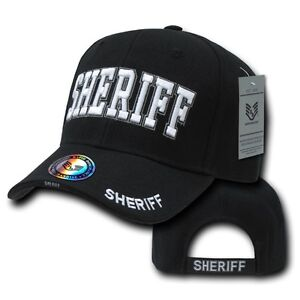 Black County Sheriff Police Officer Deputy Costume Cop Baseball Ball ... b2372e2899e7