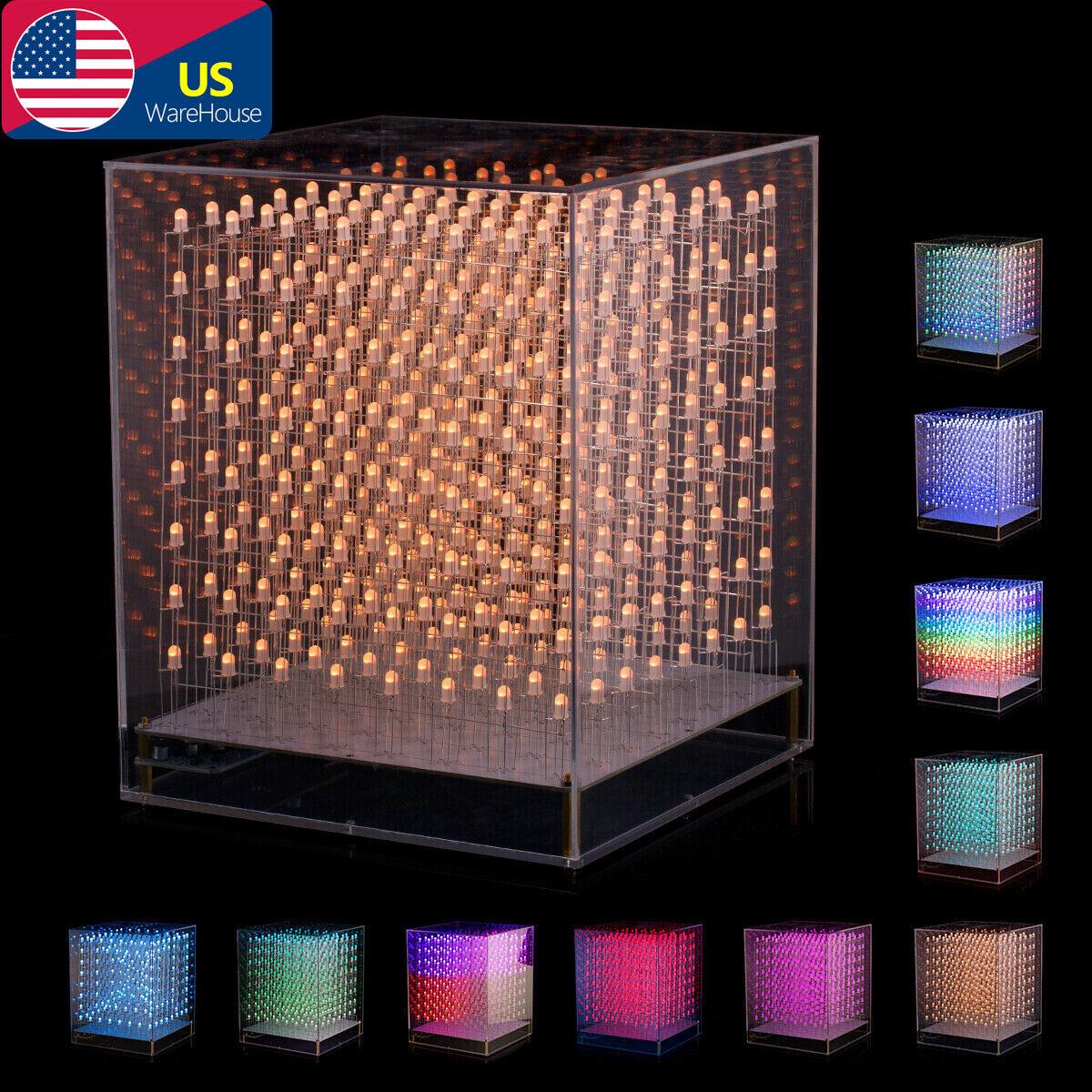 Useful 3D LightSquared 8 x 8 x 8 LED Cube White LED Blue Ray DIY Kit ♓
