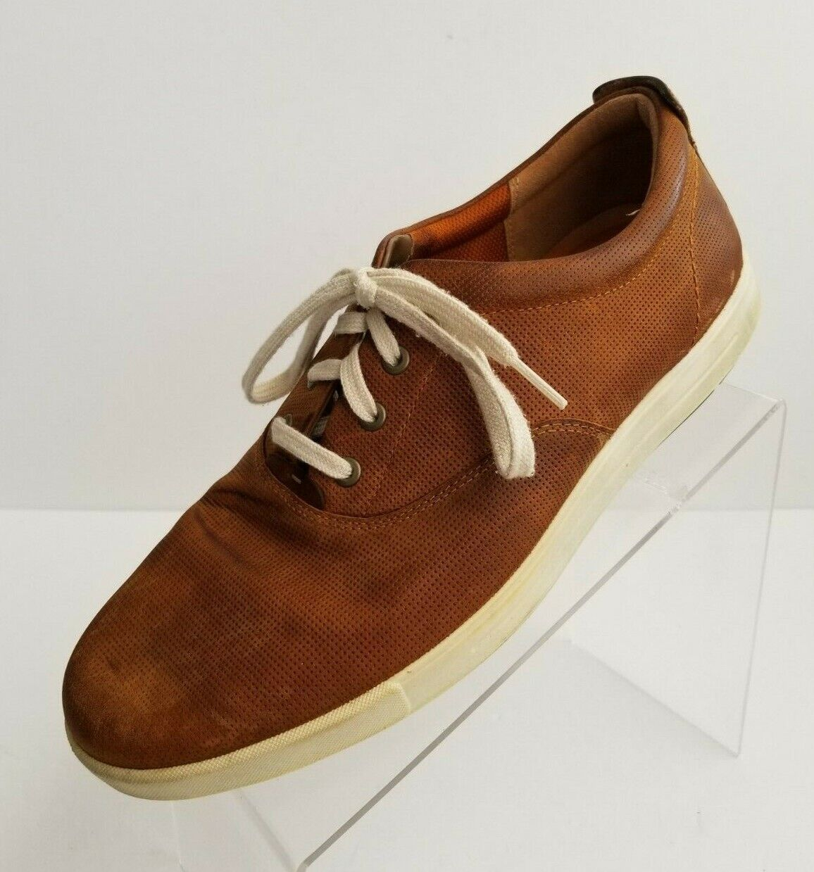 ECCO Mens Sneakers Brown Leather Lace Up Shoes Size EU 44 US 11