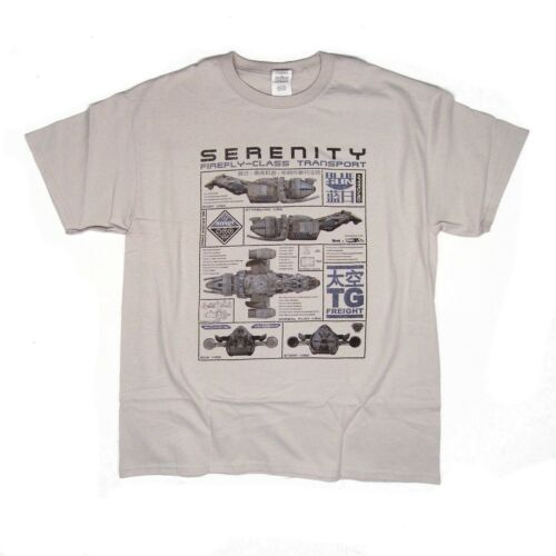 Serenity Ship Blueprint inspired T-shirt /> S 15 Years Firefly 5XL available