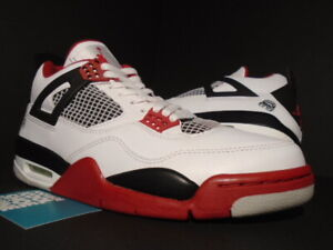 3fa791cda117 NIKE AIR JORDAN IV 4 RETRO WHITE MARS FIRE RED BLACK CEMENT OG ...