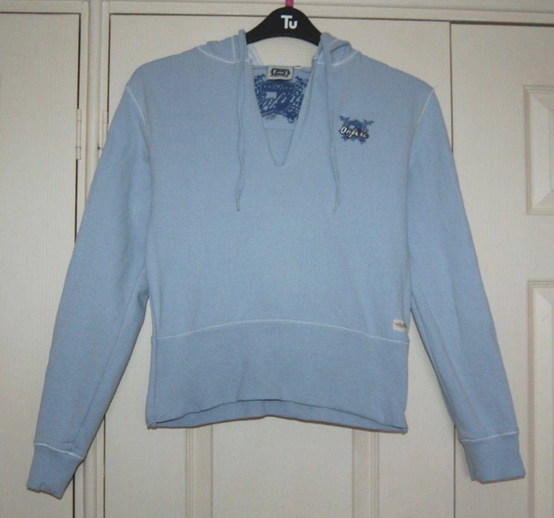 New 14 Onfire 'Ramble' Sky Blau Hoodie Sweat Shirt Style Top