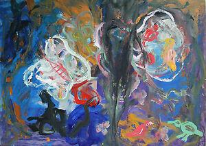 Prof. Ioan sbârciu-Landscape with Animals. Acrylic on board, unsigned.
