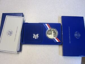 1986-Ellis-Is-Statue-of-Liberty-Comm-Proof-Silver-Dollar-original-Mint-Case