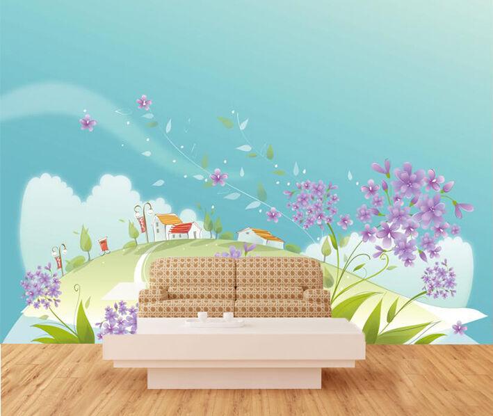 3D fiori 3888 Parete Murale Foto Carta da parati immagine sfondo muro stampa
