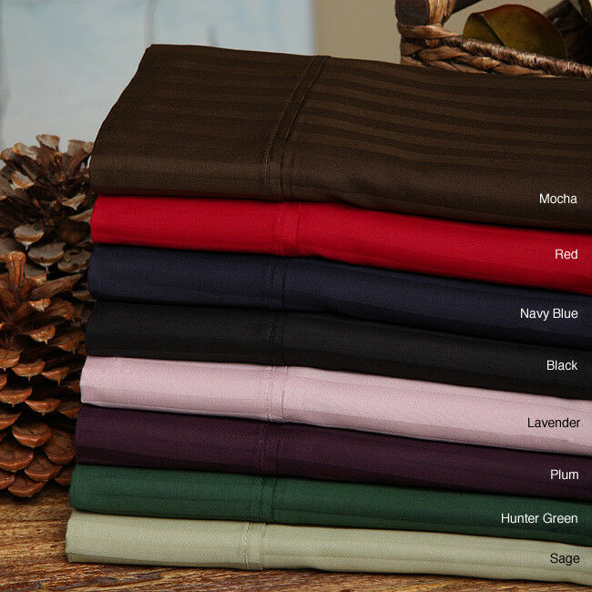 Luxurious 4 PCs Sheet Set 100% Egyptian Cotton 1000 TC Striped colors US Full