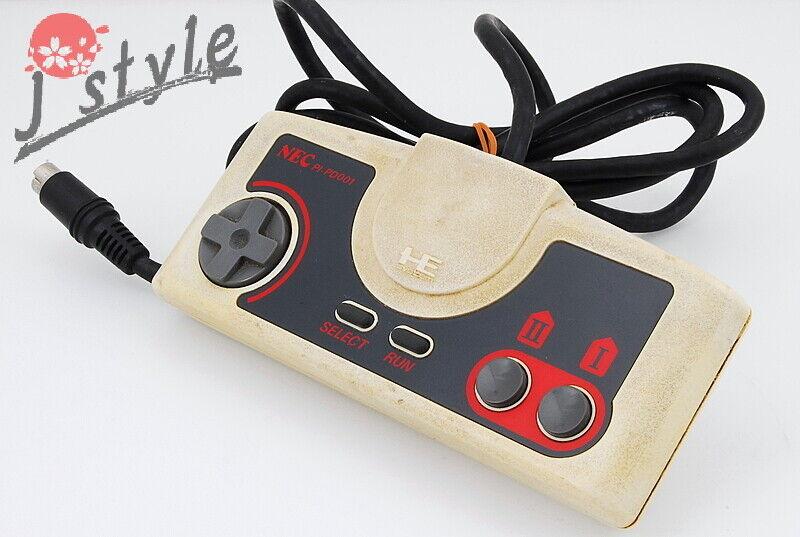 [GOOD] NEC PC Engine Core Grafx White Controller Gamepad PI-PD001 Japan