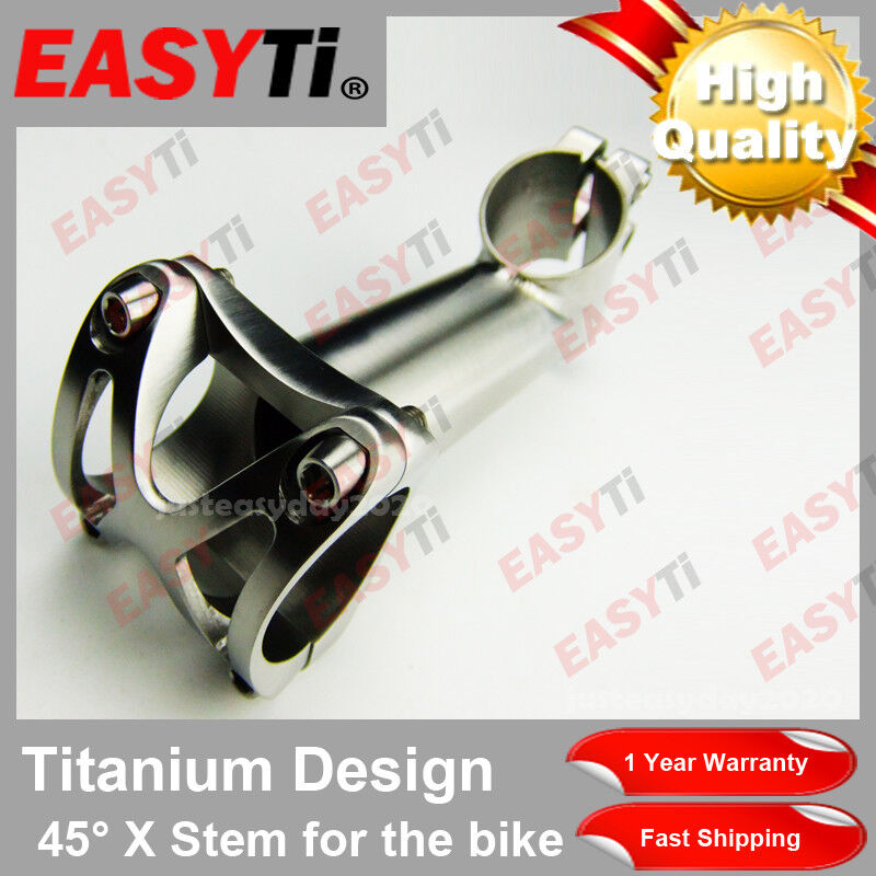 45Degree Titanium Stem 25.4 1 1 8 -For Road Mountain Bike XC MTB FR DH