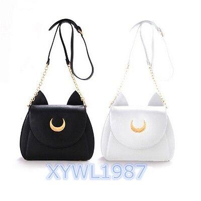 Sailor Moon Samantha Vega Collaboration Luna Artemis White Black Shoulder Bag