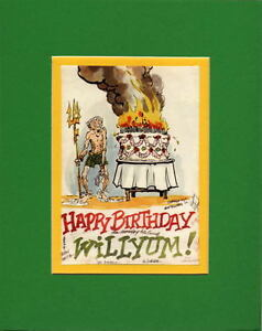 Image Is Loading Bill Everett BIRTHDAY CARD DRAWN By BULLPEN MATTED