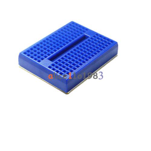 5PCS Mini Bleu Sans Soudure Prototype Breadboard 170 Tie-points pour Arduino Shield