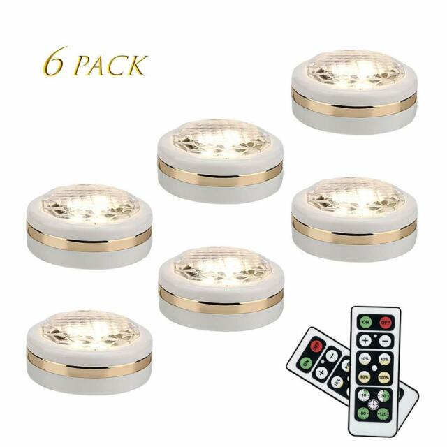 5LED Tap Lights Self-Stick Under Cabinet Push Night Light Kitchen Closet Lamp HV