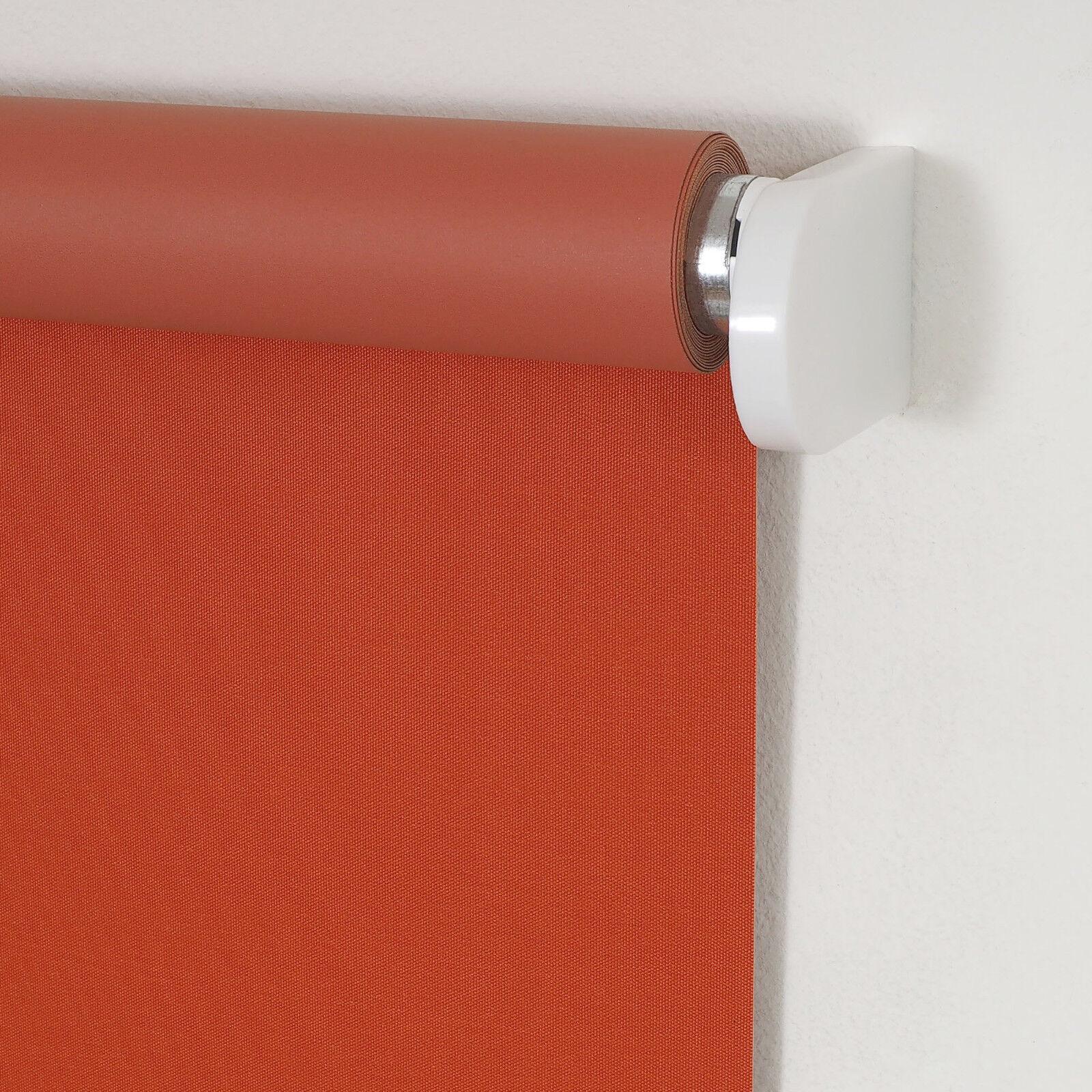 Springrollo Verdunkelungsrollo Fenster Rollo Mittelzug Schnapprollo Terracotta | Qualität Qualität Qualität und Verbraucher an erster Stelle  f14aac
