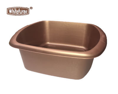 BRAND NEW ROSE GOLD HEAVY DUTY LARGE WASHING UP BOWL UK MADE FAST FREE DELIVERY