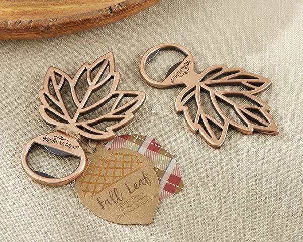 24 Copper Leaf Bottle Opener Autumn Fall Bridal Shower mariage Favors