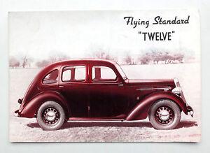 1930s Uk Flying Standard Twelve Car Sales Ad Brochure Standard Motor Company Ebay