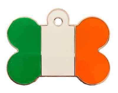 Avere Una Mente Inquisitrice Personalizzato Grande Irlanda Tri Colore Smalto Cane Osso Animali Id Tag