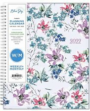 Blue Sky 2022 Weekly Amp Monthly Planner 85 X 11 Flexible Cover Wirebound