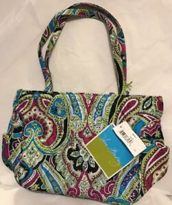 bc150bd2eb88 New Vera Bradley Retired Rare Limited Edition Silk Paisley Bella Bag ...