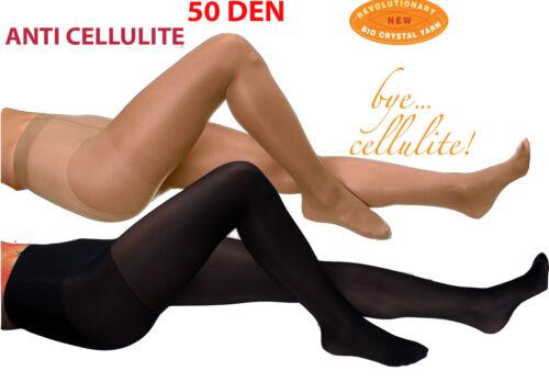 NEU Strumpfhose 20DEN Anti-Cellulite S M L XL beige schwarz