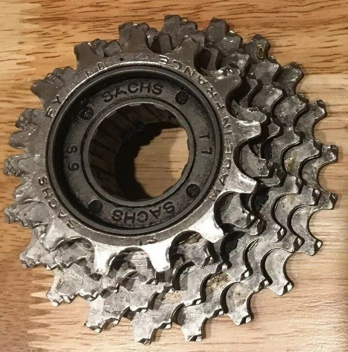 VINTAGE SACHS 6 SPEED ENGLISH THREADED FREE WHEEL 13-21