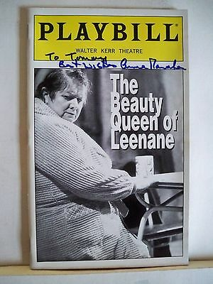 Realistic The Beauty Queen Of Leenane Playbill Anna Manahan Autographed Nyc 1998 Good For Antipyretic And Throat Soother Autographs-original