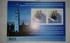 Canada souvenir miniature sheet stamp MS - Prince George Royal Baby, not fdc