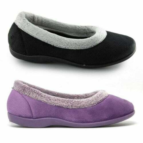 Sleepers JULIA Womens Ladies Memory Foam Soft Full Comfortable Collar Slippers