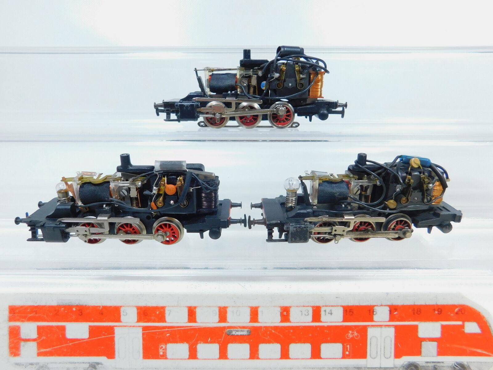 BZ229-1  3x Märklin H0 AC Fahrwerk für 3000 Tenderlok Dampflok, 2. Wahl