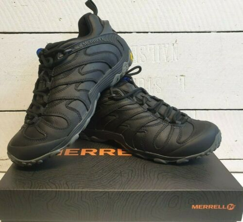 Men/'s Merrell Cham 7 Slam Luna J32889 Stout//Black Leather Trainers