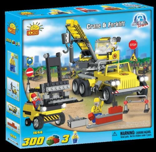 Cobi Action Town Jail Police Chase Crane Forklift 300 Construction Brick Set New