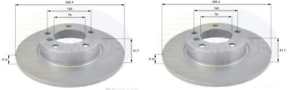 NEW-PAIR-SOLID-FRONT-BRAKE-DISCS-BMW-3-SERIES-316-318-Z3-E36-1-6-1-7-1-8-1-9