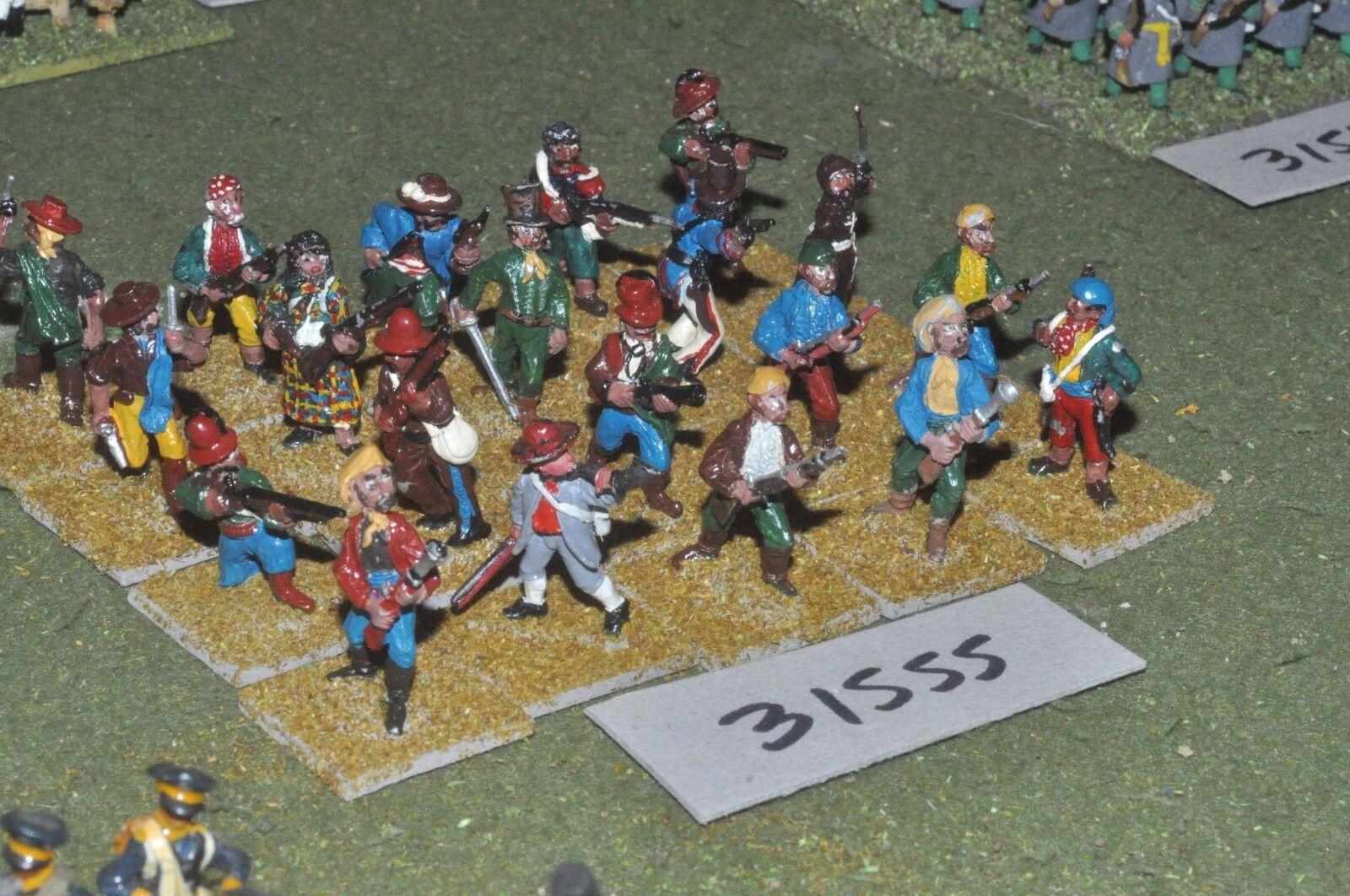 25mm napoleonic   spanish - guerillas 20 figures - inf (31555)