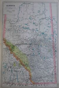 1919-MAP-DOMINION-OF-CANADA-ALBERTA-ROCKY-MOUNTAINS-RESERVE-CALGARY