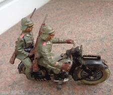 original  Elastolin Hausser  Motorradfahrer  Kradfahrer Masse / Blech