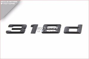 Matte Black Rear Trunk Letters Emblem Decal For BMW E46 E90 E92 3 Series 330i