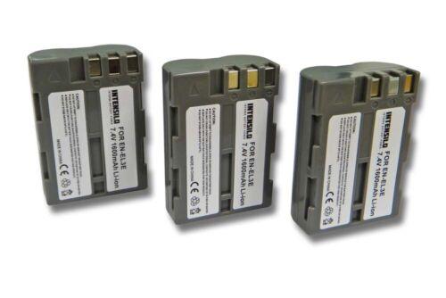 EN-EL3A EN-EL3E 3x INTENSILO BATTERY 1600mAh FOR Nikon EN-EL3
