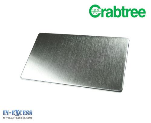 B11-43 Crabtree Plaque Plane 2 Gang Blank Socket Plaque Couverture Chrome Satiné