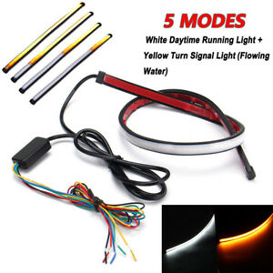 30cm-LED-Auto-Tagfahrlicht-DRL-Strip-Streifen-Lampe-Leuchte-Switchback-12V-5Modi