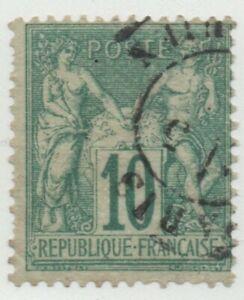 1876-1878-FRANCIA-PACE-E-COMMERCIO-10-CENT-I-TIPO-BUONA-CENTRATURA-USATO