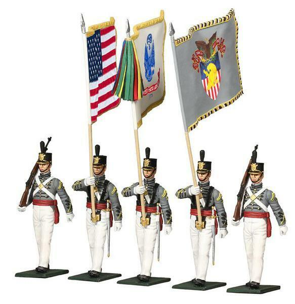 W Britain Soldiers US Military Academy West Point Cadet color Guard Set 10034